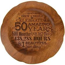50th wedding anniversary plates happy anniversary gifts