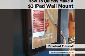 In Wall Mount For Ipad How To Quickly Make A 3 Ipad Wall Mount