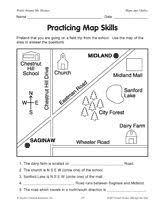 printable map key mapping label it first grade and kindergarten social studies map