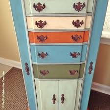 Armoire Changing Table Jewelry Armoire Makeover With Paint And Stencils