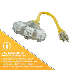 Heavy Duty 15 Amp 2 by Amazon Com Yellow Jacket Extension Cord With 3 Outlet Lighted