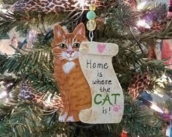 custom 2 cat ornament custom cat cat christmas ornament
