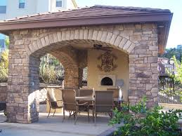 covered outdoor kitchen designs rustic outdoor kitchen designs inspiration pizza oven ideas img