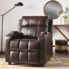 hoffman chestnut bonded leather recliner
