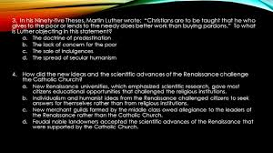 thesis of martin luther world history final review ppt download in his ninety five theses martin luther wrote christians are to