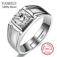 silver ring for men luxury men rings resizable 925 sterling silver rings men