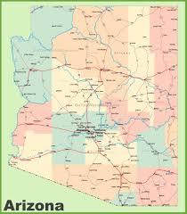 us map arizona state arizona state maps usa of az inside on us map gongsa me