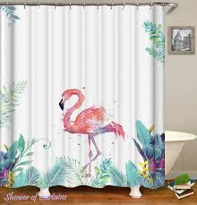 Flamingo Shower Curtains Shower Curtains Painting Flamingo Shower Of Curtains