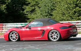 porsche 718 boxster gts prototype spotted at the nurburgring