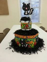flower the skunk cake i made for my daughter u0027s bday party all