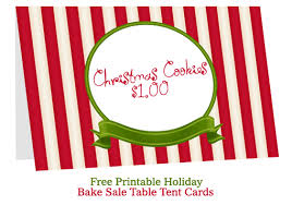 Table Tent Cards Bake Sale Table Tent Cards Bake Sale Flyers U2013 Free Flyer Designs