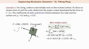 2015 dynamics 19 principle of linear impulse and momentum with