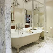 Mirror On Mirror Bathroom Designer Alison Papworth Teamed Mirrors With Marble And A
