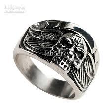 stainless steel skull mens ring mer01 05 vintage wedding rings