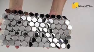 stainless steel mosaic tile penny round 108tmstfj023 youtube