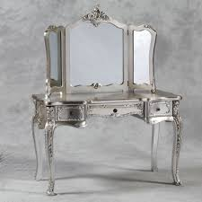 style dressing table with mirror in cream