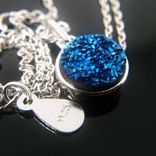 blue stones necklace images Kigmay jewelry 925 sterling silver round cz blue stones pendant jpg