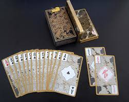 sale pvc gold edge deck transparent cards