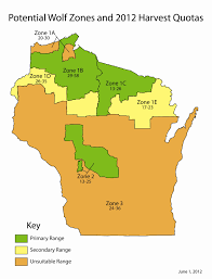 Wisconsin Dnr Lake Maps by Dnr Sets Preliminary Wolf Harvest Quota At 142 To 233 Animals