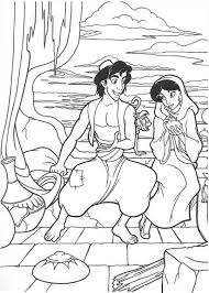 aladdin coloring pages jasmine and rajah coloringstar