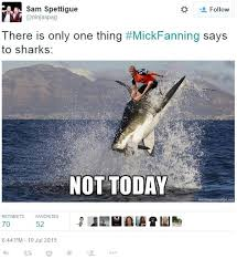 Shark Attack Meme - not today mick fanning shark attack know your meme