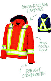 cotton duck safety parka work king s457