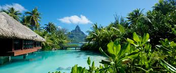 exotic island vacations bora bora overwater bungalows down