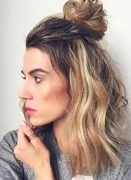 easy sexy updos for shoulder length hair shoulder length cut with 1 2 bun hun hair looks so sexy trendy