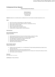 resume template for driver position resume ideas