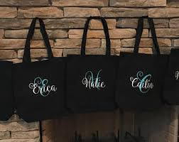 personalized bags for bridesmaids bridesmaid gift bag etsy
