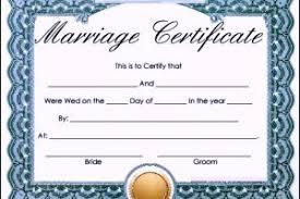 blank marriage certificate template templatezet
