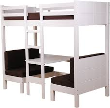 High Sleeper With Desk And Futon White High Sleeper Bed Sweet Dreams Play
