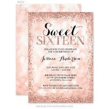 sweet 16 invitations gold faux glitter lights sweet 16 invitations print creek