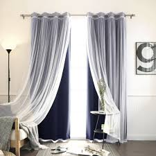 Half Height Curtains Features Set Includes 2 Blackout Curtain Panels And 2 White