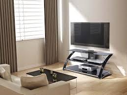 Z Line Designs Computer Desk Z Line Designs Vitoria 3 Shelf Black Glass Tv Audio Stand For 48