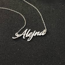 sterling silver nameplate necklace sterling silver nameplate necklace promotion shop for promotional