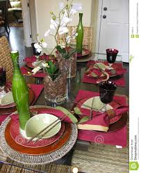 decorative table setting stock images image 750414