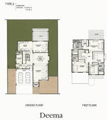 the lakes dubai floor plans emirates living deema ghadeer deema type 2 4 bedroom