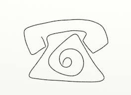 phone u2013 simple icon sketch u2013 blind contour thousand sketches