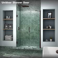 Install Shower Door by Dreamline Showers Unidoor Hinged Shower Door