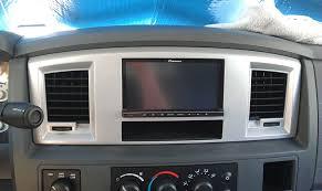 2000 dodge ram dash bezel din navigation stereo install and bezel mod dodge cummins