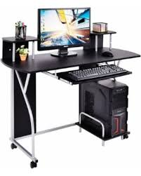 Computer Desk Work Station New Year U0027s Savings On Costway Rolling Computer Desk Pc Laptop Desk