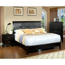 Nightstand Size Furniture Of America Chester 3 Piece Queen Size Bed With