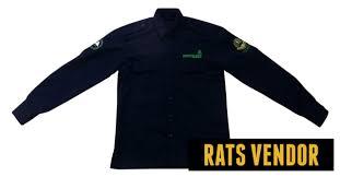 desain jaket warna coklat seragam konveksi bogor rats vendor