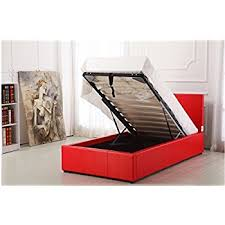 red faux leather ottoman storage bed extra strength bright red