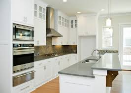White Kitchen Countertop Ideas by Grey Quartz Kitchen Countertops Outofhome