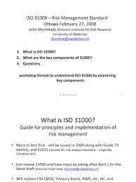 iso 3100 risk management risk