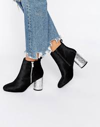 river island womens boots sale buy river island glitter circle heeled ankle boot black river