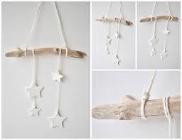 Stars Nursery Decor by Driftwood Wall Hanging With White Clay Stars Nursery Decor