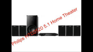 Buy Philips Htb5520 94 5 1 3d Blu Ray Home Theatre Black Online At - philips htd2520 5 1 home theater complete review youtube